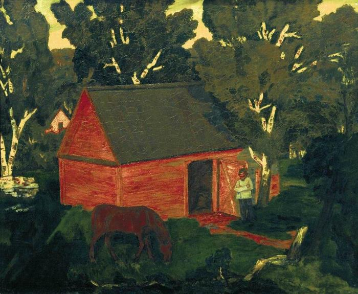Yellow barn. 1909