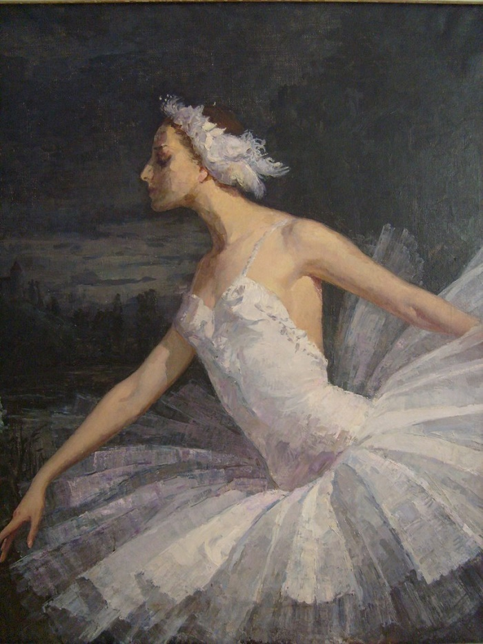 1953 portrait of Maya Plisetskaya