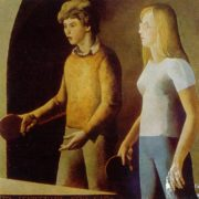 A game. Portrait of students of the Art Institute of Repin. 1979. Oil on canvas. Detail