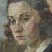 A girl. 1940s