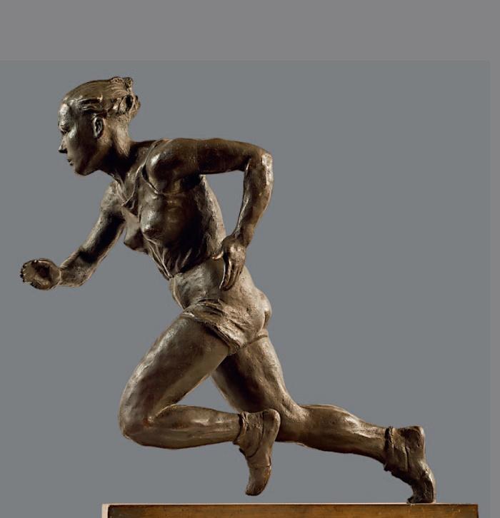 A hundred meters. 1947. Bronze, metal