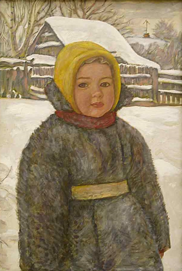 A little girl in winter, portrait