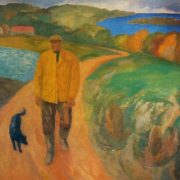 A man from the shores of the Volga. 1965. Oil, canvas. Art museum of Estonian SSR, Tallin