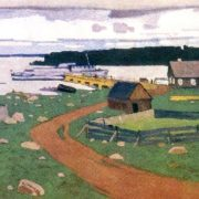 A new wharf. 1965. Canvas, tempera