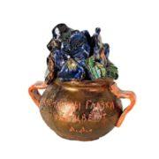 A pot of flowers. 1948. Ceramics