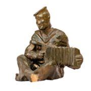 A sailor with a harmonica. 1948-1950. Ceramics