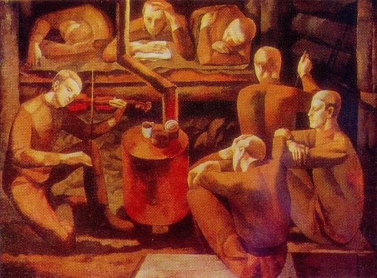 Painting by Soviet Latvian artist Karlis Dobrais (born 24 February 1943)
