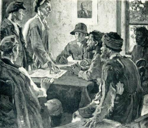 Meeting of committy on poverty. 1920. Oil