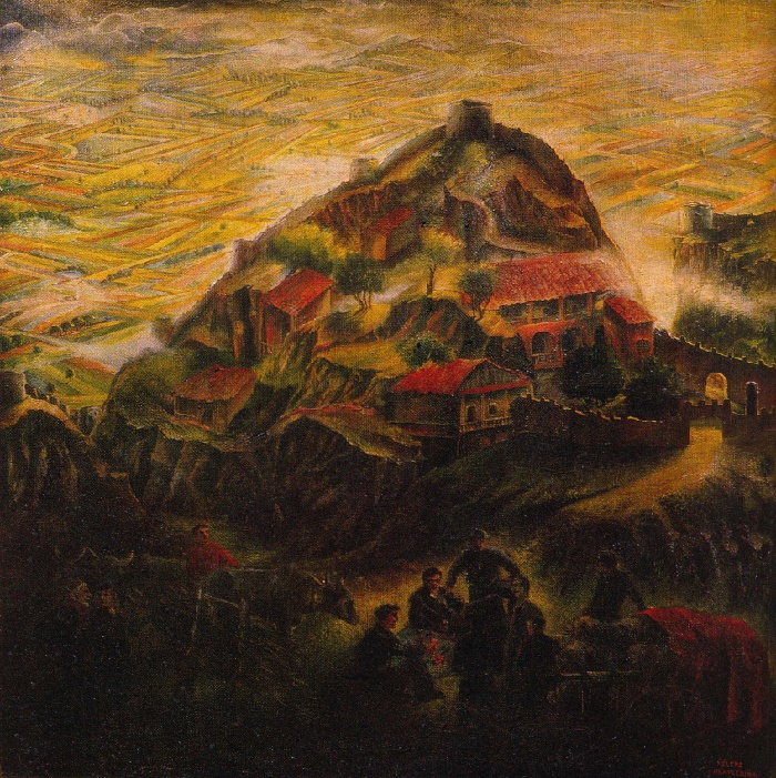 Alazani Valley. 1954. Oil on canvas. State Art Museum of Georgian SSR, Tbilisi