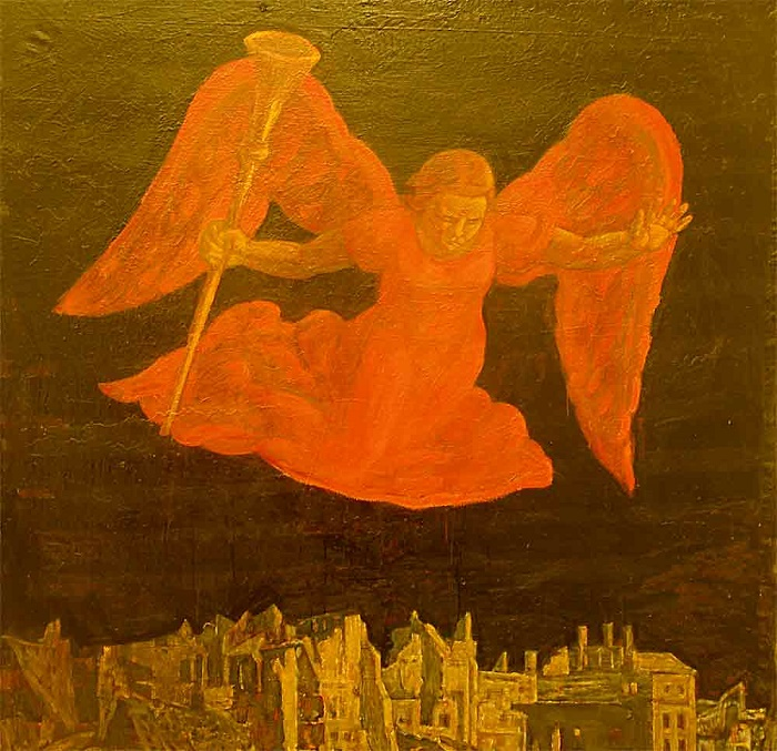Angel over the city
