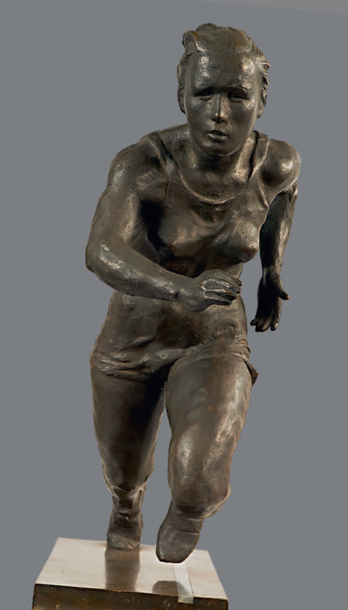 Another view of 'A hundred meters'. 1947. Bronze, metal