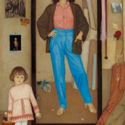 At the mirror. 1987. Oil on canvas. The State Tretyakov Gallery, Moscow