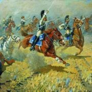 Attack of the Life Guards of His Majesty the Cavalry Regiment in 1813. 1911