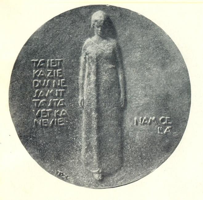commemorating Latvian poet Janis Poruks. 1930. Bronze. Art Museum of the Latvian SSR