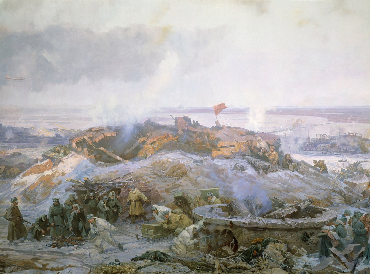 Battle of Stalingrad. 1982 (fragment of the panorama, co-authors N.Ya. Bout, V.K. Dmitrievsky, P.T.Maltsev, G.I.Marchenko, M.I.Samsonov, F.P.Usypenko)