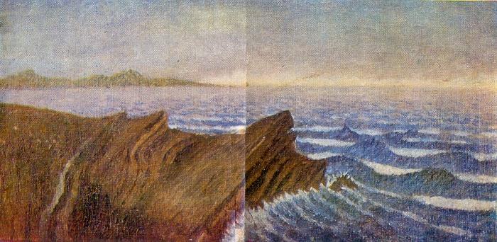 Belushiy Gulf. Novaya Zemlya. 1950s. Canvas, oil. Arkhangelsk Museum of Fine Arts