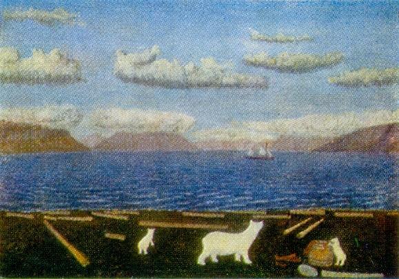 Cape Drovyanoe. 1950s. Canvas, oil. Arkhangelsk Museum of Fine Arts