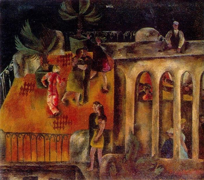 Dances in Gurzuf. 1970. Oil, canvas