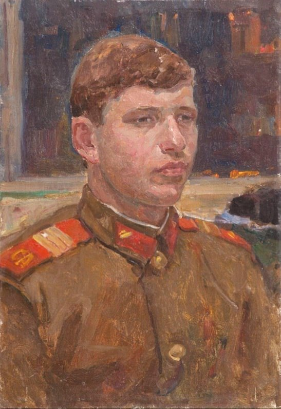 Excellent worker of the Soviet Army. Sergeant Yevgeny Anatolyevich Novikov