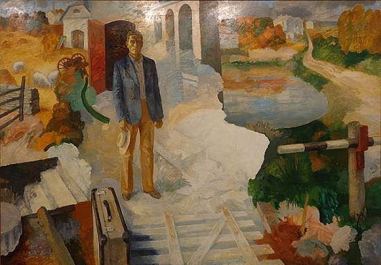 Fall in northern Estonia. Oil and tempera. 1980