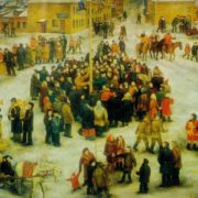 Farewell to winter. 1973. Oil on canvas. Ministry of Culture of Russia
