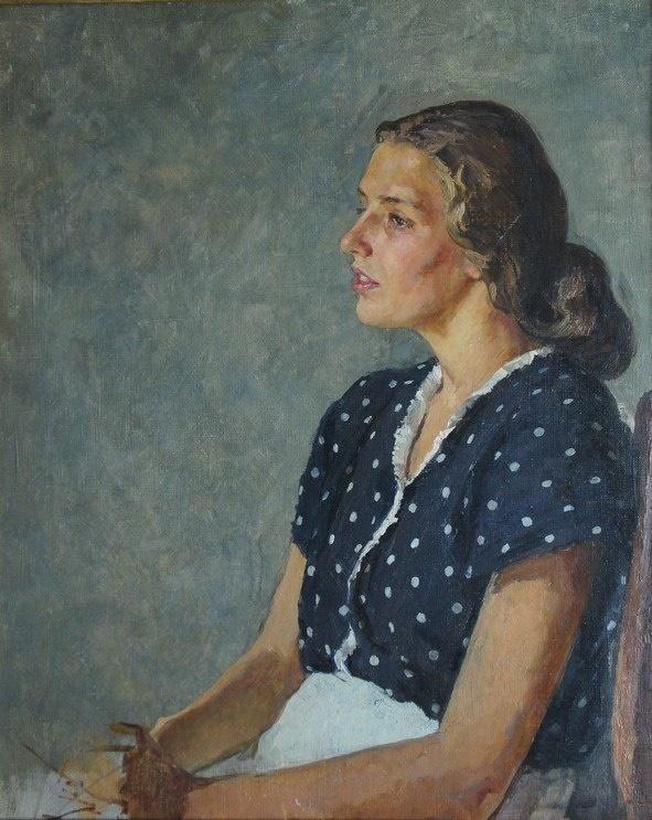 Female portrait. 1950