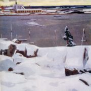 First snow. 1960. Canvas, tempera