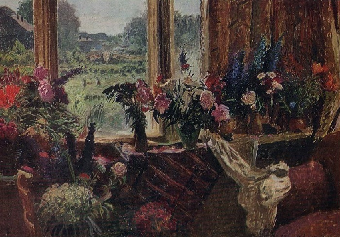 Flowers in the vases, still life