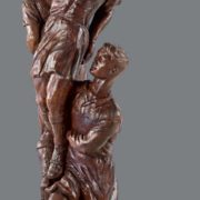 Football players. 1950. Multifigured composition. Tinted tree. The State Tretyakov Gallery