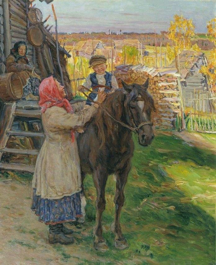 Future rider. 1910. The State Tretyakov Gallery