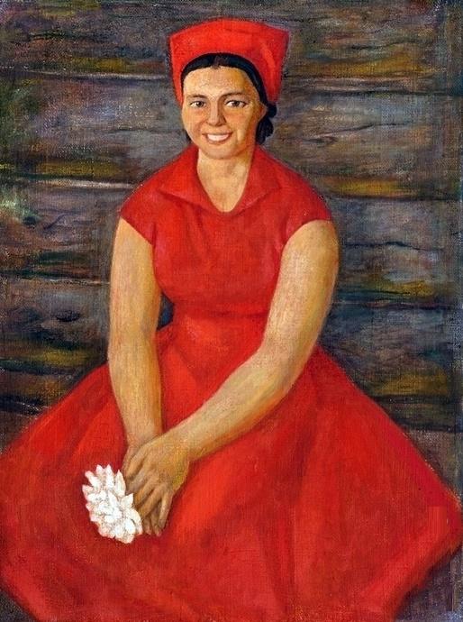 Girl in red. 1970