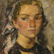 Girl with beads. 1953