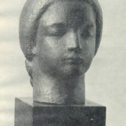 Girl's head. 1930s