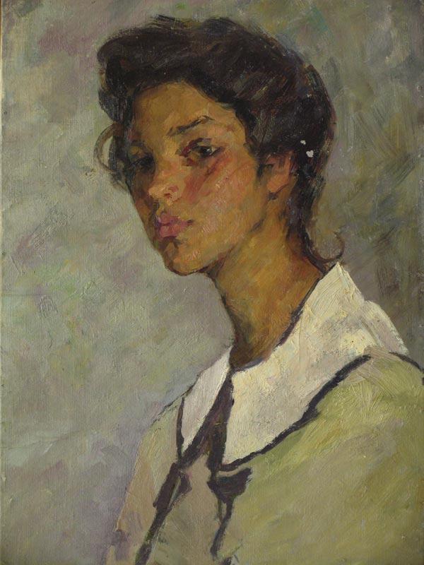 Girl's portrait. 1952