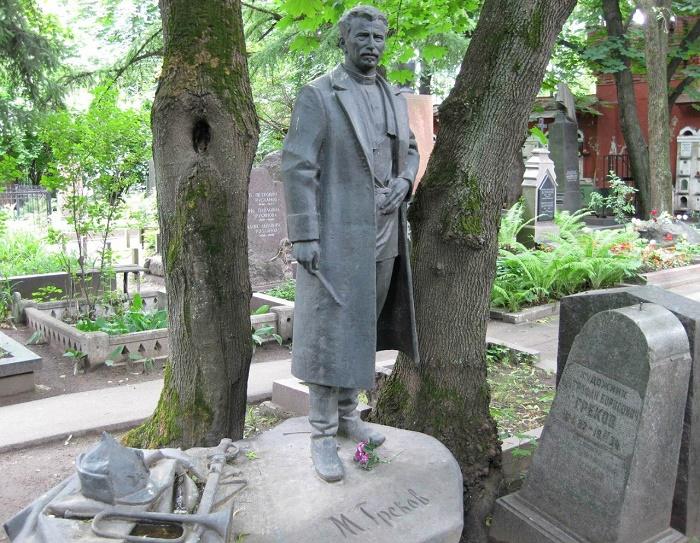 Grave of Mitrofan Grekov at the Novodevichy Cemetery. Moscow