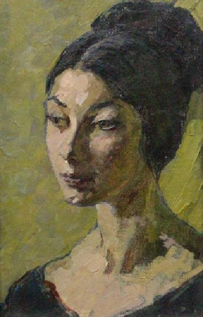 Head of a girl. 1965