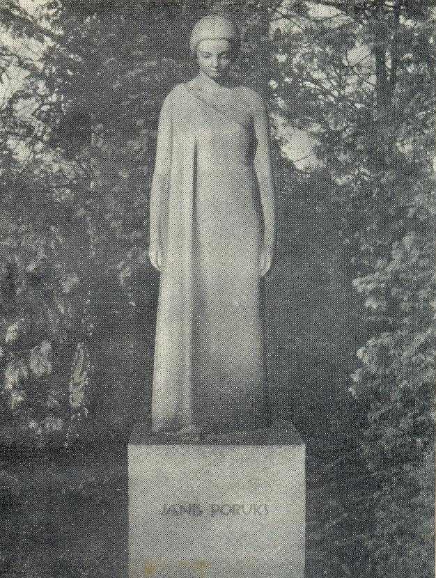 Headstone of Janis Poruks (Latvian poet). 1930