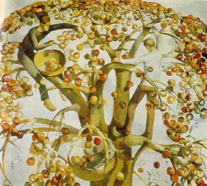 In autumn. 1970. Oil on canvas. Art Fund of the Latvian SSR
