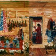 In the village house. 1994
