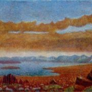 Karsk side. 1950s. Canvas, oil. Arkhangelsk Museum of Fine Arts