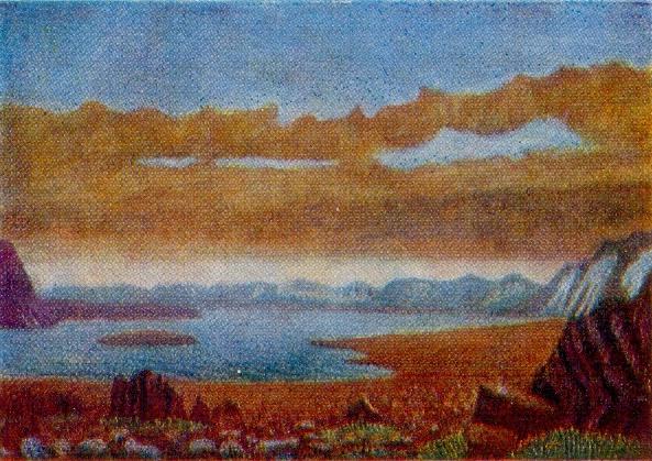 Karsk side. 1950s. Canvas, oil. Arkhangelsk Museum of Fine Arts