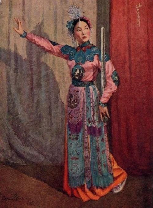 Korean dancer An Son Hi. 1953