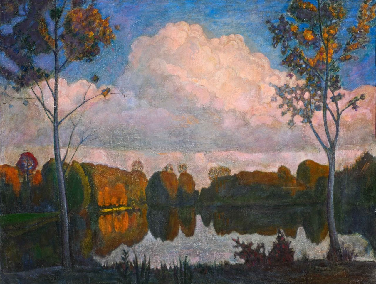 Landscape with a cloud