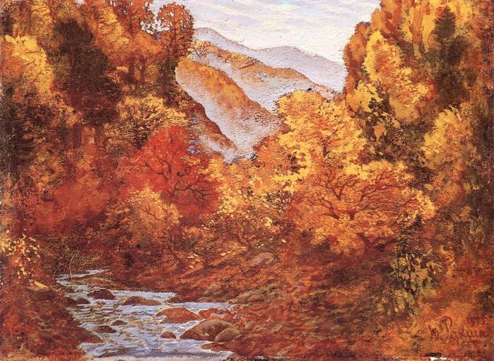 Landscape. Spring in Primorie. 1975
