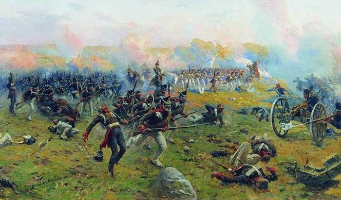 Life Guards Grenadier Regiment in the Battle of Borodino August 26, 1812. 1912-1913