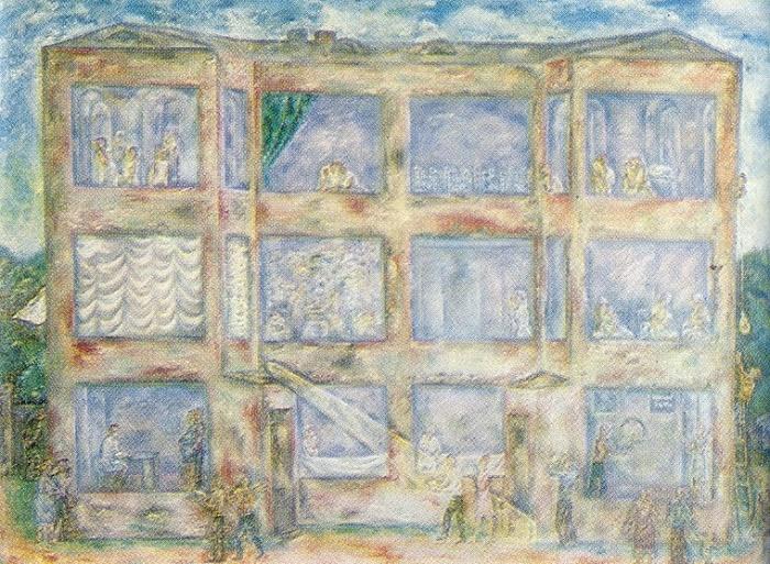 Maternity hospital №2. 1975. Oil on canvas