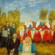 Meeting guests in Moldavan collective farm. 1974