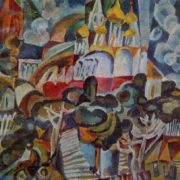 Memories of Suzdal. 1971. paper, gouache, tempera