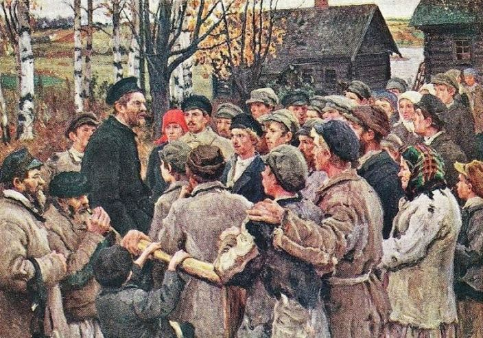 Mikhail Kalinin among peasants