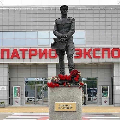 Marshal of the Soviet Union Ivan Konev (1897 - 1973), Soviet military leader, commander, Marshal of the Soviet Union (1944), twice Hero of the Soviet Union (1944, 1945)